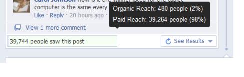 Organic Reach in Facebook